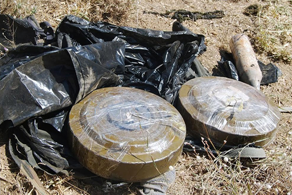 Landmines commonly found in Syria