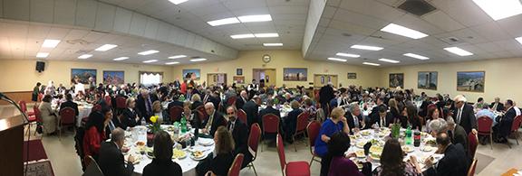 Guests fill Derian Hall at Rev. Dr. Vahan Tootikian's Testimonial Banquet