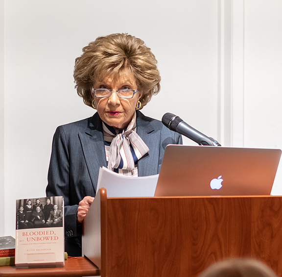 Dr. Rubina Peroomian during the book unveiling event