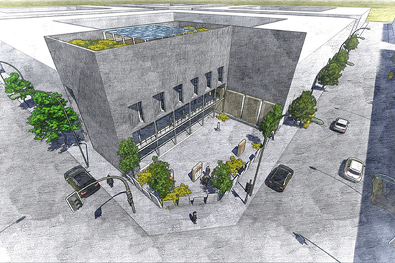 An artist's rendering of the Armenian Genocide Museum in Buenos Aires