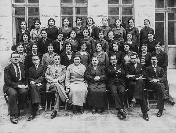 Faculty of Euphrates College, including Prof. Ashur Yousef