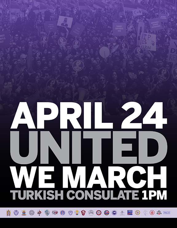 The annual Armenian Genocide March for Justice will take place 1 p.m. on April 24 at the Turkish Consulate in Los Angeles