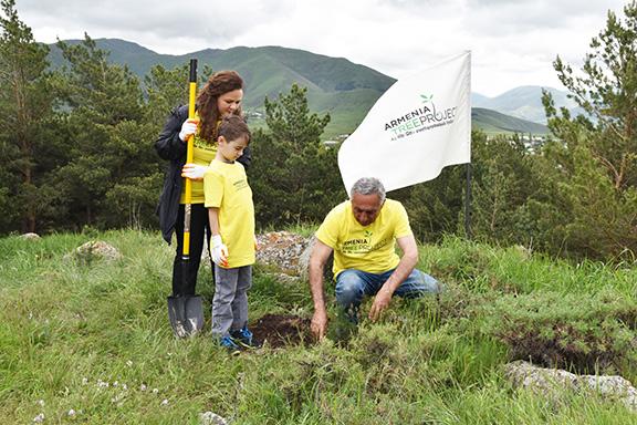 ATP volunteers plant a tree in Armenia
