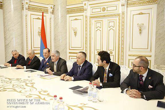 Diaspora business leaders met with Prime Minister Nikol Pashinyan