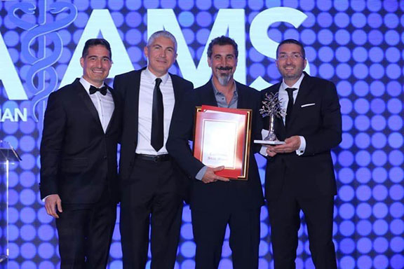 The AAMS also honored musician and activist Serj  Tankian with its lifetime achievement award