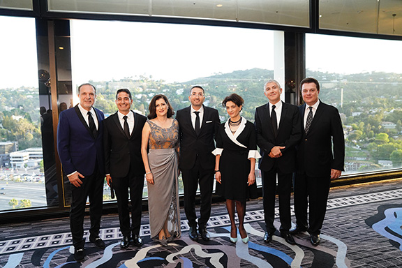 AAMS Board from left: Armen Cherik, Vicken Sepilian, Silva Gasparian, Kevin Galstyan, Anna Hakobyan, Armond Kotikian and Boris Bagdasarian