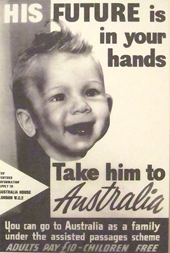 A poster promoting migration to Australia