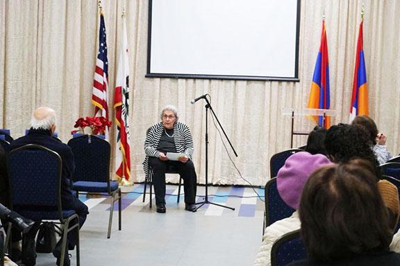 Distinguished author Sona Zeitlian speaking about influential Armenian women (1)