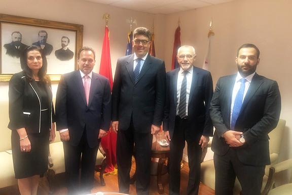 From left: Carmen Ohanian, Dr. Viken Yacoubian, Artak Bshtikyan, Avedik Izmirlian and Razmik Stepanyan