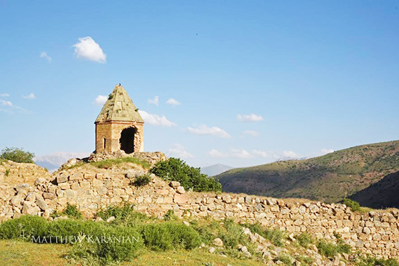 By Matthew Karanian: Karmravank Monastery in the Van region of ancient Armenia. The author's Great Grandfather was a Vartabed (high priest) at this Monastery until the genocide. This monastery is featured on the cover of 'The Armenian Highland' book