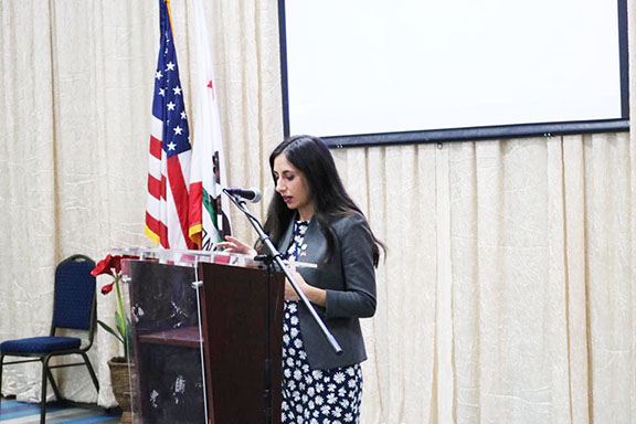 State Representative Mari Manoogian speaking about her path towards politics