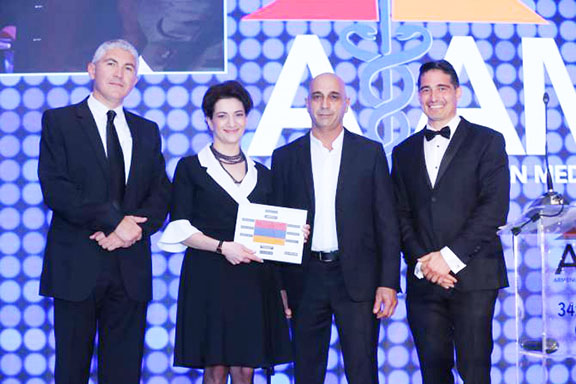 Armenian American Medical Society with Anna Hakobyan, the spouse of Prime Minister Nikol Pashinyan