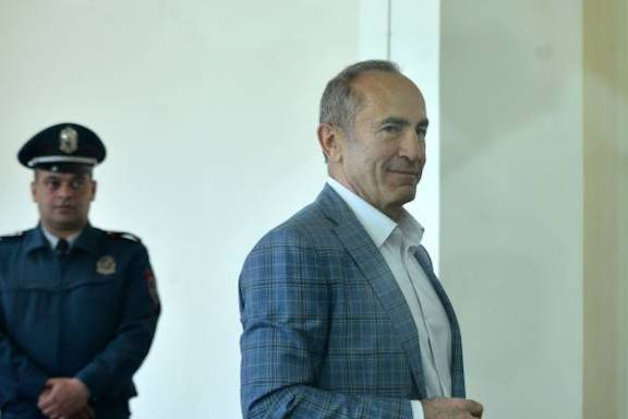 Armenia's former president in court on May 16.