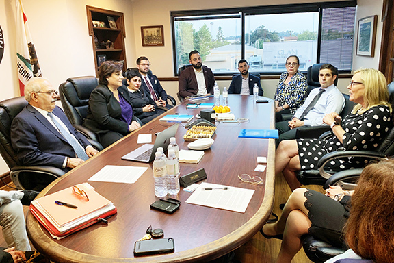 ANCA-WR Board of Directors meets with Kathryn Barger; discusses issues important to the Armenian American community in the LA County 5th Supervisorial District.