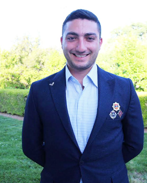 Arman Vardanyan, the recipient of the AGBU Asbeds Scholarship and the Mario Mazzola & Luciana Cavallet Endowed Scholarship