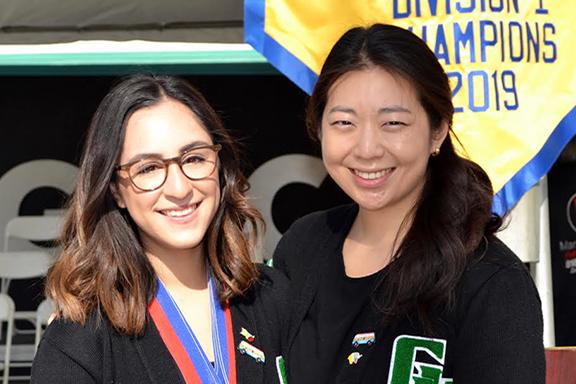 Nicole with her coach Alina Lee