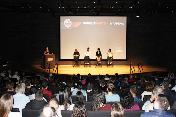 """Over 300 people attended """"The Future of High Tech in Armenia"""" panel discussion at the Netflix Headquarters"""