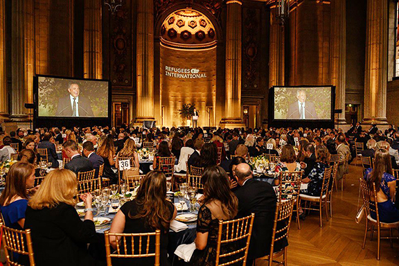 On April 30, 2019, Refugees International hosted its 40th Anniversary Dinner in Washington, D.C., honoring individuals who have demonstrated extraordinary leadership and commitment to humanitarian action. (Photo: Kevin Allen Photography)