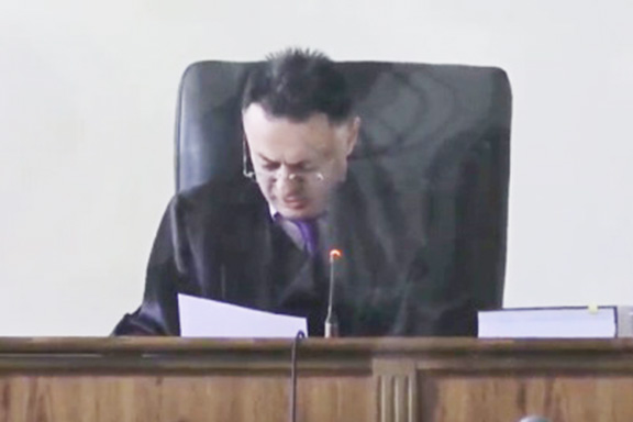 Judge David Grigoryan  is presiding over Robert Kocharian's trial