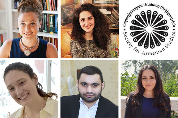 Top left to right: Nora Lessersohn, Ani Yenokyan, Julia Hintlian, Sargis Baldaryan, and Pauline Pechakjian