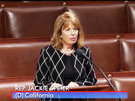 Rep. Jackie Speier (D-CA) speaks forcefully for expanding U.S. democracy assistance to Armenia by $40 million in the FY2020 foreign aid bill.