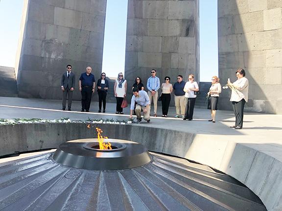 A delegation of Western US state officials at Dzidzernagapert