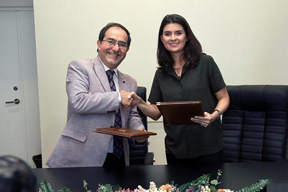 AMAA-Armenia Representative Harout Nercessian and Founder and CEO of Teach For Armenia Larissa Hovhannian