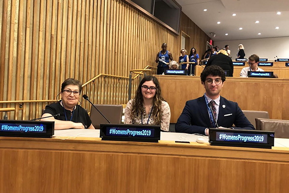 From l to r: Valentine Berberian, Chairperson of the ARS UN Committee, Anoosh Kouyoumdjian, and Alec Mesropian