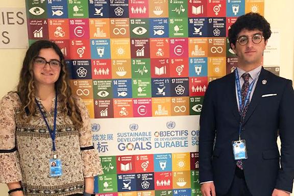 ARS UN Interns Anoosh Kouyoumdjian (left) and Alec Mesropian