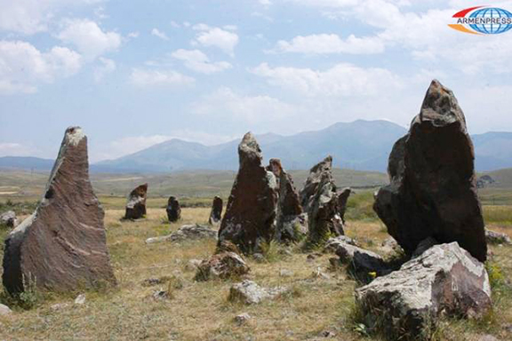 Carahunge, or Zorats Karer, is a prehistoric  archaeological site near the town of Sisian in the Syunik Province of Armenia