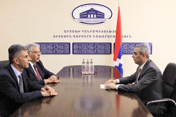 ARF Bureau Chairman Hagop Der Khachadourian during his meeting with Artsakh Foreign Minister Masis Mayilyan