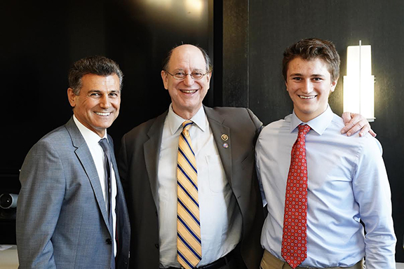 Prominent attorney Garo Mardirossian and his son Kevin joined ANCA leaders and supporters at an event in support of Congressman Brad Sherman (D-CA)
