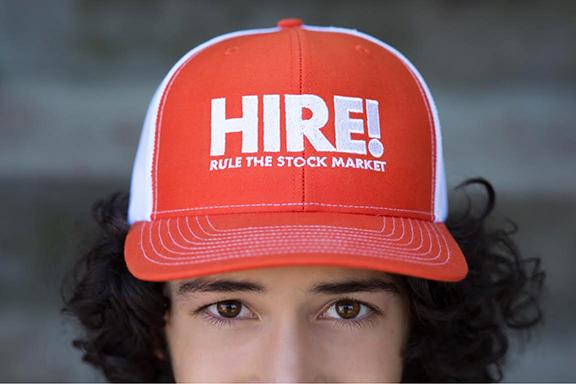 HIRE! hats are available on Kickstarter