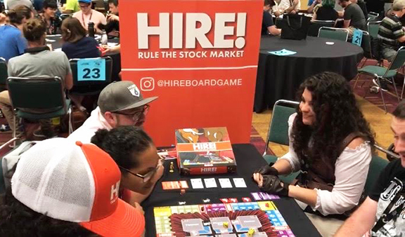 HIRE! being playtested at GenCon 2019