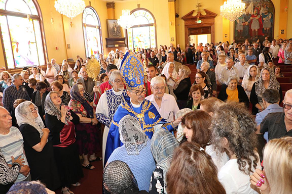 A scene from the celebration of the Feats of Assumption at St. Mary's Armenian Church