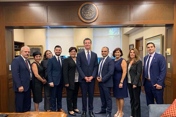 ANCA-WR Board Members and Staff with Governor Gavin Newsom