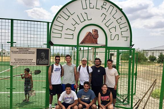 AYF interns at the Maral Melkonian Field in Artsakh