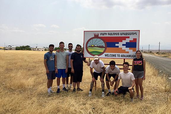 AYF interns in Arajamugh