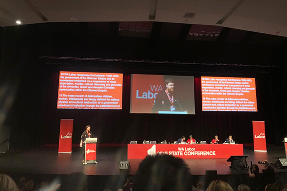 A scene from the 2019 Western Australian Labor Conference