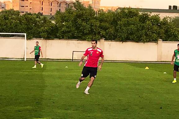 Henrikh Mkhitaryan in Yerevan on Sept. 3, practicing with the Armenian National Soccer team