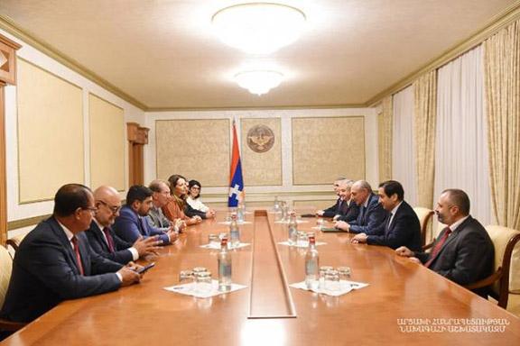 French lawmakers meet with Artsakh President Bako Sahakian on Sept. 11