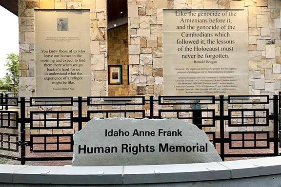 The Armenian Genocide is commemorated as part of the Idaho Anne Frank Human Rights Memorial in Boise, ID. It is one of three commemorative sites in honor of the victims of the Armenian Genocide in Idaho, all on public land, established in cooperation with the Idaho Armenian community and local human rights groups. Photo Credit: Lisa Ruff