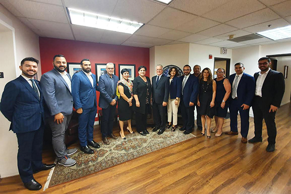 ANCA Western Region Board and Staff with Councilmember Paul Krekorian and Chief of Staff Karo Torossian