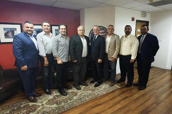 ANCA-SFVE Board Members with Councilmember Paul Krekorian (center) and Chief of Staff Karo Torossian (far-right)