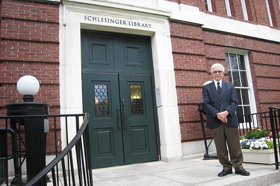 Hagop Sarkissian at Harvard's Schlesinger Library