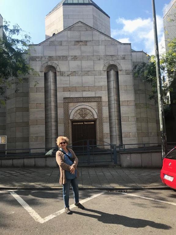 Catherine Yesayan at the Armenian Apostolic Church in Ixelles, Belgium