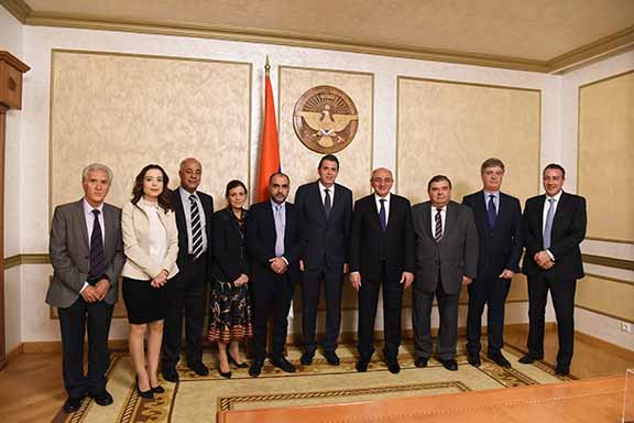 During their visit to to Artsakh, the Cypriot delegation met with with President Bako Sahakyan