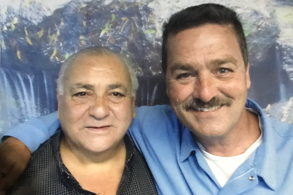 Chaplain and Deacon Rafi Garabedian with Hampig Sassounian