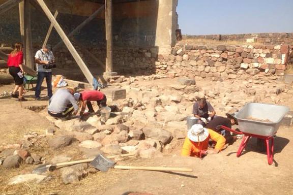 Archaeologists excavating Armenia's Erebuni Fortress