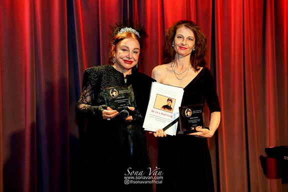 Sona Van (left) with actress Beata Pozniak